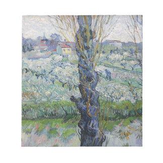 Vincent Van Gogh - Trees Painting Artwork Notepad