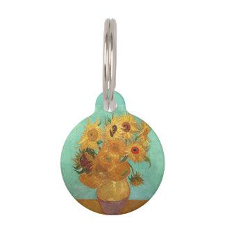Vincent Van Gogh Twelve Sunflowers In A Vase Pet ID Tag