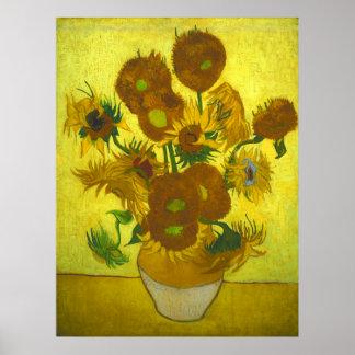 Vincent van Gogh - Vase 12 Sunflowers Poster