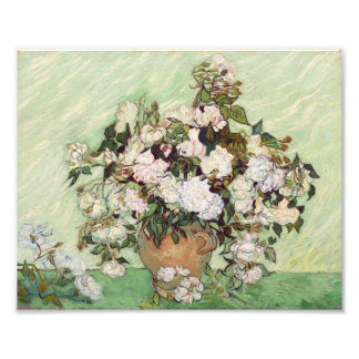 Vincent Van Gogh Vase With Pink Roses Floral Art Photographic Print
