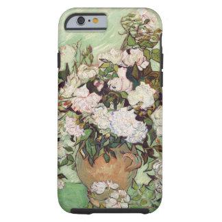 Vincent Van Gogh Vase With Pink Roses Floral Art Tough iPhone 6 Case