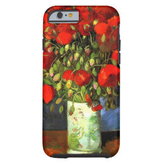 Vincent Van Gogh Vase With Red Poppies Floral Art Tough iPhone 6 Case