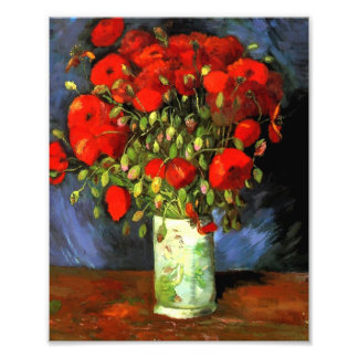 Vincent Van Gogh Vase With Red Poppies Photo