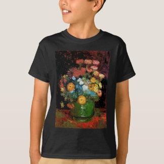 Vincent Van Gogh - Vase With Zinnias Fine Art T-Shirt