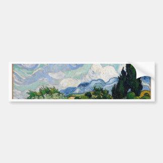Vincent Van Gogh Wheat Field with Cypresses Art Bumper Sticker
