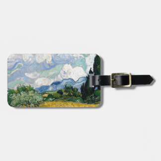 Vincent Van Gogh Wheat Field with Cypresses Art Luggage Tag