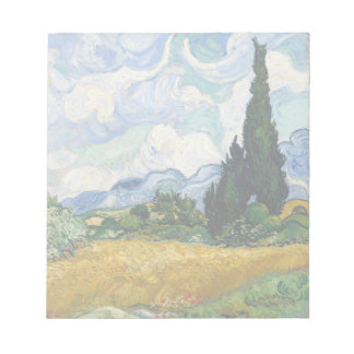 Vincent Van Gogh Wheat Field With Cypresses Notepad