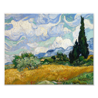 Vincent Van Gogh Wheat Field With Cypresses Art Photo