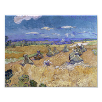 Vincent van Gogh - Wheat Stacks with Reaper Photographic Print