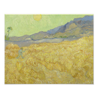 Vincent van Gogh - Wheatfield with a Reaper Art Photo