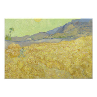 Vincent van Gogh - Wheatfield with a Reaper Photo Art