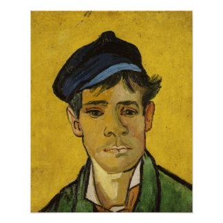 Vincent van Gogh   Young Man with a Hat, 1888 Poster