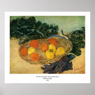 Vincent van Gogh's Basket of Fruit and Gloves 1889 Poster
