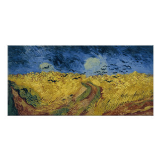 Vincent van Gogh's Wheat Field with Crows (1890) Poster