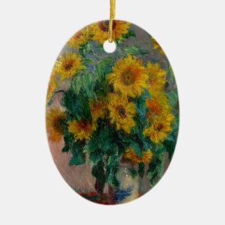Vincent Willem van Gogh and Sunflower Ceramic Oval Decoration