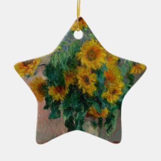 Vincent Willem van Gogh and Sunflower Ceramic Star Decoration