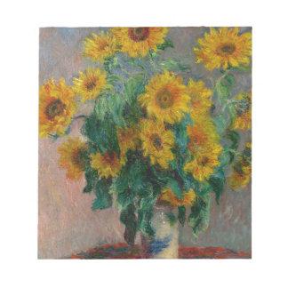 Vincent Willem van Gogh and Sunflower Notepad