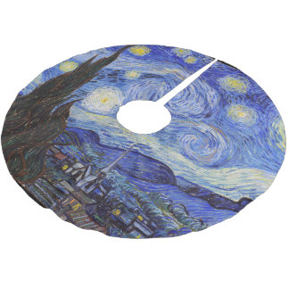 """Vincent Willem van Gogh, """"Starry Night"""" Brushed Polyester Tree Skirt"""