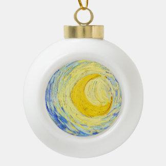 "Vincent Willem van Gogh, ""Starry Night"" Ceramic Ball Decoration"