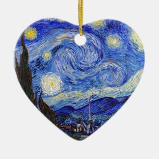 "Vincent Willem van Gogh, ""Starry Night"" Ceramic Heart Decoration"