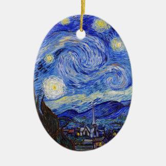 "Vincent Willem van Gogh, ""Starry Night"" Ceramic Oval Decoration"