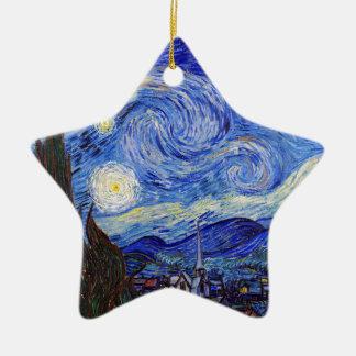 "Vincent Willem van Gogh, ""Starry Night"" Ceramic Star Decoration"