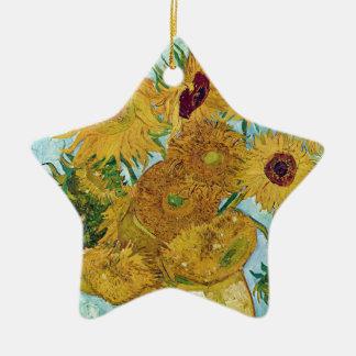 "Vincent Willem van Gogh, ""Sunflowers"" Ceramic Star Decoration"