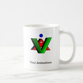 Vinci Animation Logo Coffee Cups Basic White Mug