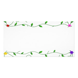 Vines with flowers envelope photo cards