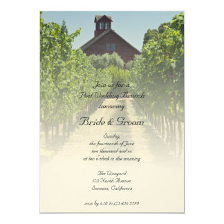 Vineyard and Red Barn Post Wedding Brunch Invite