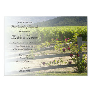 Vineyard and Rose Fence Post Wedding Brunch Invite