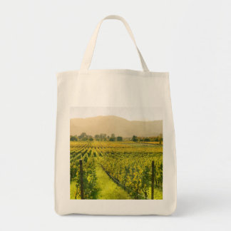 Vineyard in Autumn in Napa Valley California Tote Bag