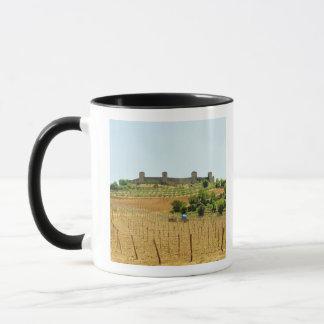 Vineyard in front of a fort, Monteriggioni, Mug