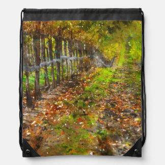 Vineyard in Napa Valley California Drawstring Bag