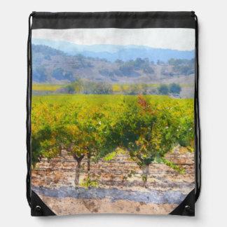 Vineyard in Napa Valley Drawstring Bag