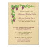 Vineyard Wedding Invitation (Parchment Texture)