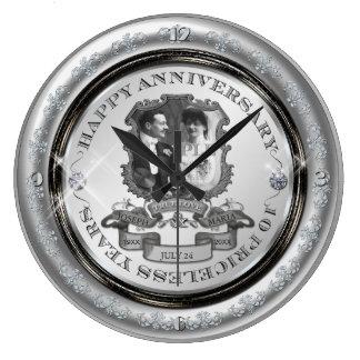 Vintage 10th Anniversary ID195 Large Clock