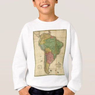 Vintage 1826 South America Map by Anthony Finley Sweatshirt