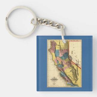 California State Map Key Rings California State Map Key Ring