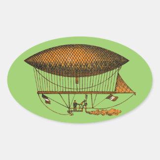 Vintage 1883 Traveling Zeppelin Oval Sticker