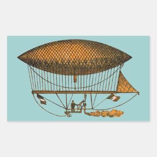 Vintage 1883 Traveling Zeppelin Rectangular Sticker