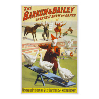 Vintage 1900 Barnum & Bailey Circus Large Format P Poster
