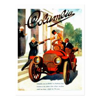 Vintage 1910s Columbia autos poster Postcard
