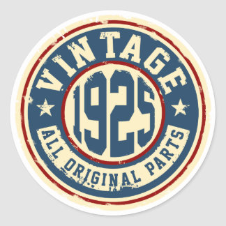 Vintage 1925 All Original Parts Classic Round Sticker