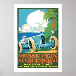 Vintage 1929 Grand Prix Auto Racing French Ad Print