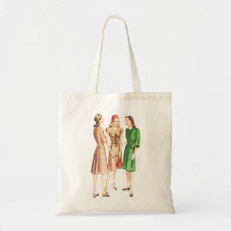 Vintage 1940s Fashion V2 Tote Bag