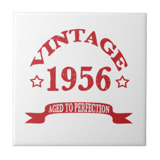 Vintage 1956 Aged to Paerfection Tile