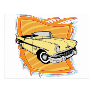 Vintage 1957 Pontiac Muscle Car Postcard