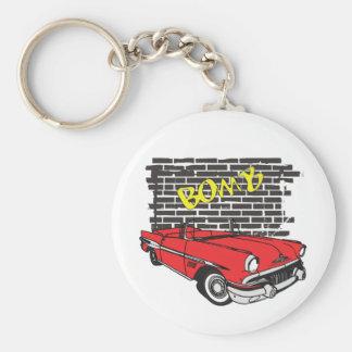Vintage 1957 Pontiac The Bomb Grafitti Key Ring