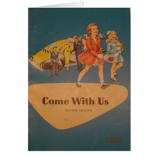 Vintage 1959 Reader (note card)